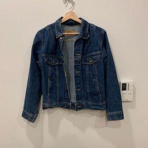 Vintage plain pockets denim jean jacket